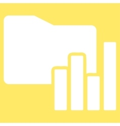 Charts Folder icon from Business Bicolor Set vector image