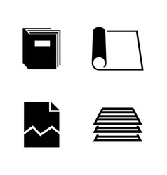 document simple related icons vector image vector image