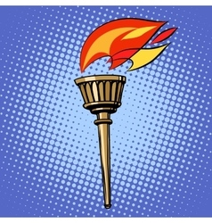 sports torch fire torchbearer vector image