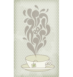 Steaming hot tea vector image vector image