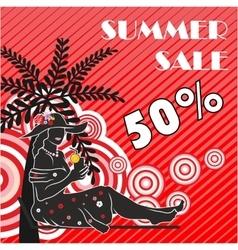 Summer sale shopping design vector image