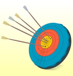 Vintage target and arrows vector