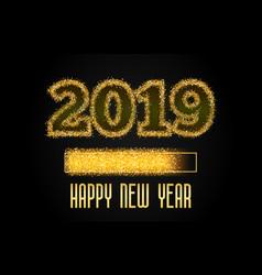 2019 golden loading progress bar vector image