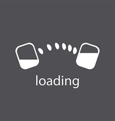 Abstract logo download files vector