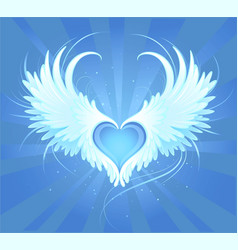 angel's heart vector image