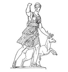 Artemis vintage vector