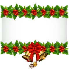 beauty Holly Christmas frame vector image