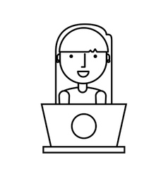 business person with laptop vector image