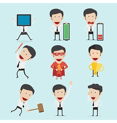 Businessman character set version2 vector