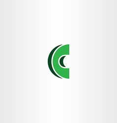 C letter green logotype icon sign vector