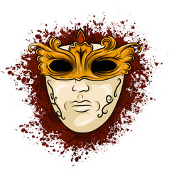 carnival golden mask vector image