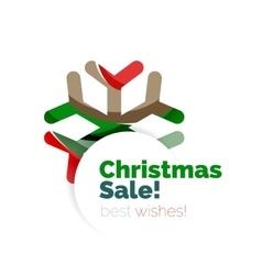 Christmas geometric abstract sale promo banner vector