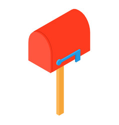 Close mailbox icon isometric 3d style vector