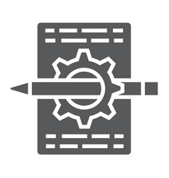 Content management glyph icon development vector