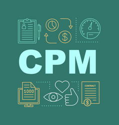 Cpm word concepts banner vector