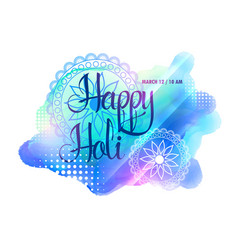creative watercolorful holi festival background vector image