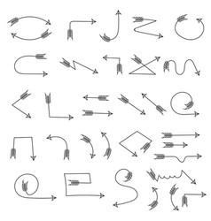 decorative arrows indian black crossbow arrows vector image