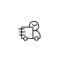delivery on time icon vector image