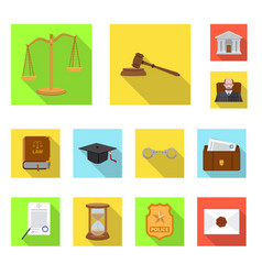 design of law and lawyer logo set of law vector image