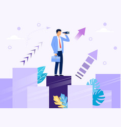 development a business project concept vector image