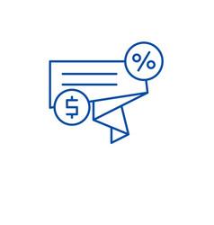 discount sales line icon concept discount sales vector image