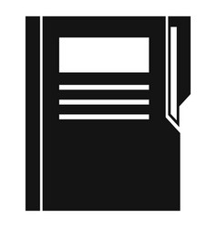 Editor folder icon simple style vector