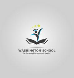 Education center logo template free vector