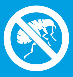 etching insect icon white vector image
