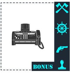 fax machine icon flat vector image