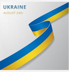 Flag ukraine 24th august vector