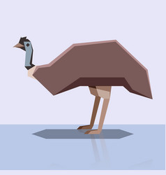 flat design emu vector image