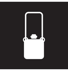 Flat icon in black and white style travel suitcase vector