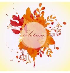 floral autumn concept circle frame vector image