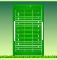 Football field with grass on green backdrop vector