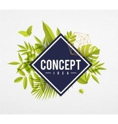 Frame floral concept lime vector image