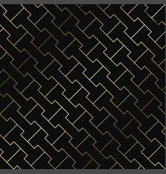 geometric pattern - seamless luxury gold vector image