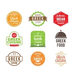 Greek cuisine label vector