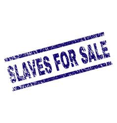 Grunge textured slaves for sale stamp seal vector