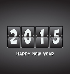 Happy New Year 2015 mechanical flip clock vector image