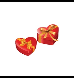 heart gift presents vector image