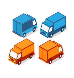 isometric set cars vector image