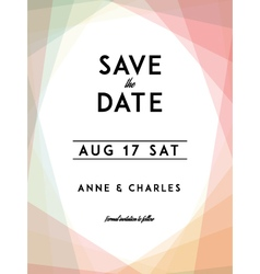 Modern Wedding Save the Date vector image