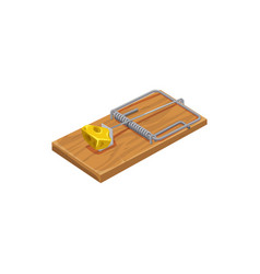 Mousetrap icon pest control extermination trap vector