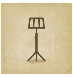 music stand old background vector image
