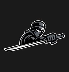 ninja mascot vector image