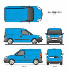 Opel combo 2016 l1h1 cargo delivery van vector