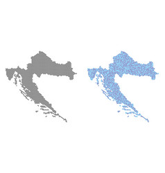 Pixel croatia map abstractions vector