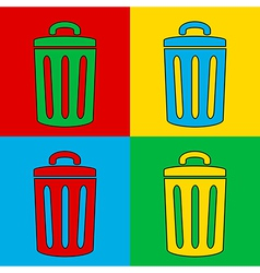 Pop art garbage vector image