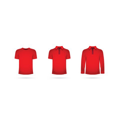 red set of t-shirts vector image