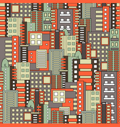Residential district seamless pattern vector